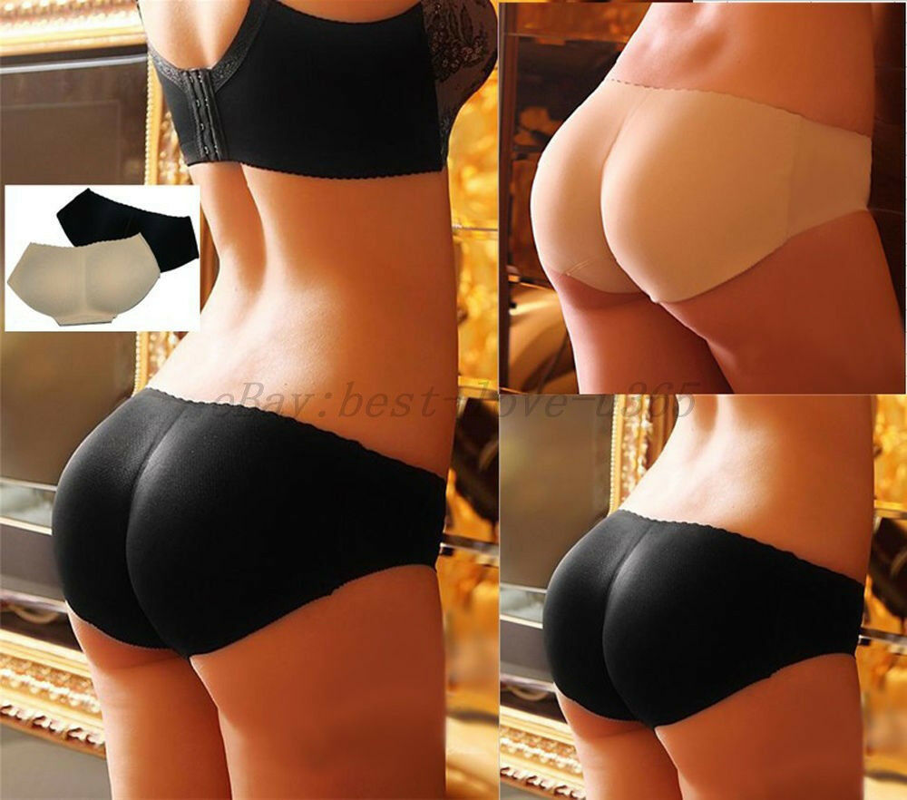 sexy booty padded seamless butt hip enhancer bottom underwear bum