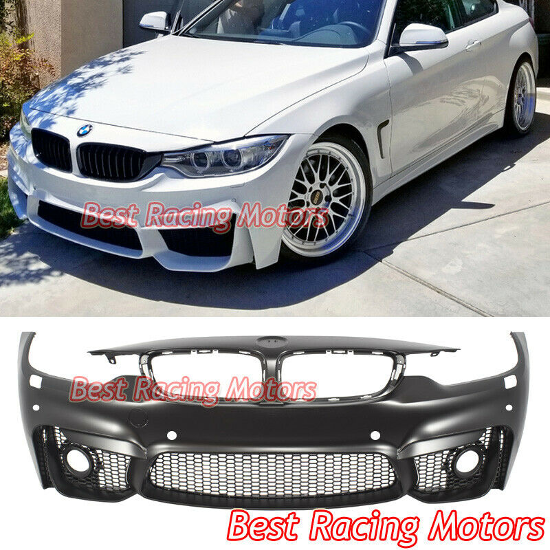 Bmw M4 Series Gran Coupe: M4 (F82) Style Front Bumper + Glass Fog Fit 14-19 BMW F32