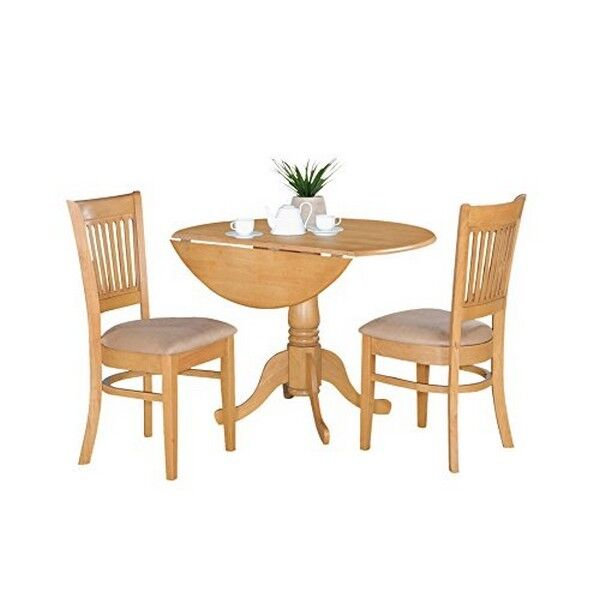 Oak Kitchen Table Set: East West Furniture Dlva3-oak-c 3pc Kitchen Nook Dining