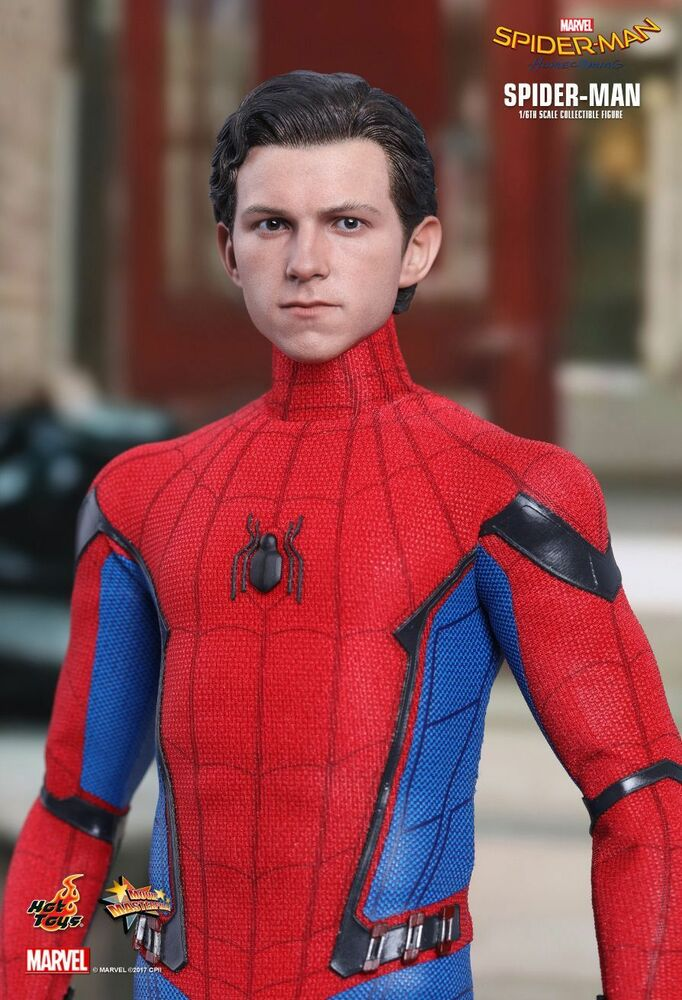 spider man heimkehr tom holland forme hot toys 1 6 figur uk ship 2018 ebay. Black Bedroom Furniture Sets. Home Design Ideas
