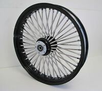 DNA MAMMOTH FAT 52 SPOKE BLACK WHEEL HARLEY 21x3.5 SOFTAIL OR TOURING