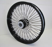 DNA MAMMOTH FAT 52 SPOKE BLACK WHEEL HARLEY 21x3.5 SOFTAIL DYNA TOURING