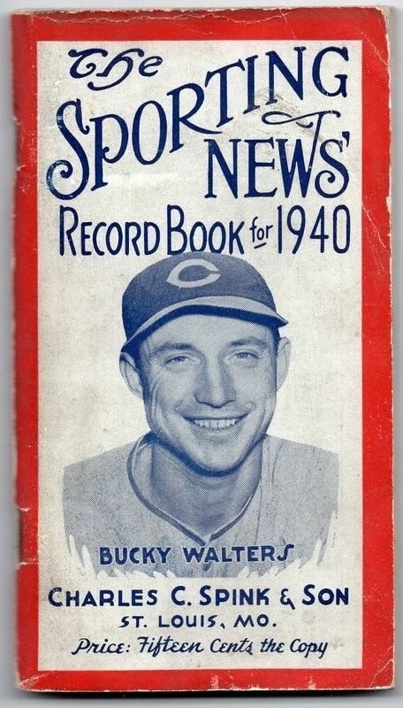 Vintage 1940 The Sporting News Baseball Record Book 129719 ...
