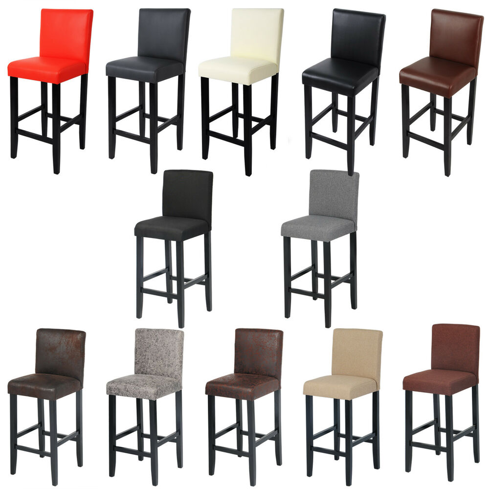 barhocker bistrohocker k chenhocker massivholz mit r ckenlehne schwarz bein 688 ebay. Black Bedroom Furniture Sets. Home Design Ideas