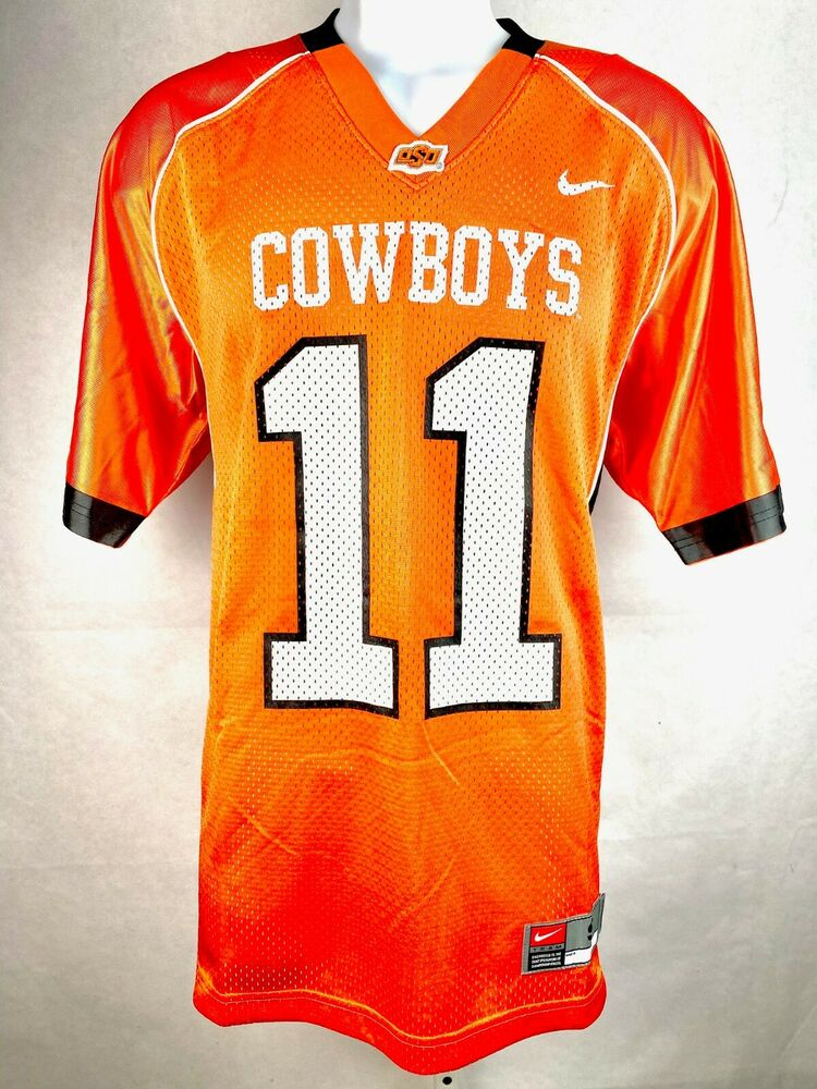 Oklahoma State Cowboys NCAA Football Jersey Orange #11 ...