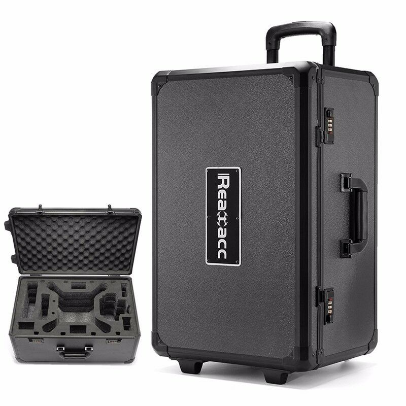 realacc alu transportkoffer trolley case 6 1kg f r dji. Black Bedroom Furniture Sets. Home Design Ideas