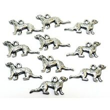 10 Pewter Ferret Charms - 0305