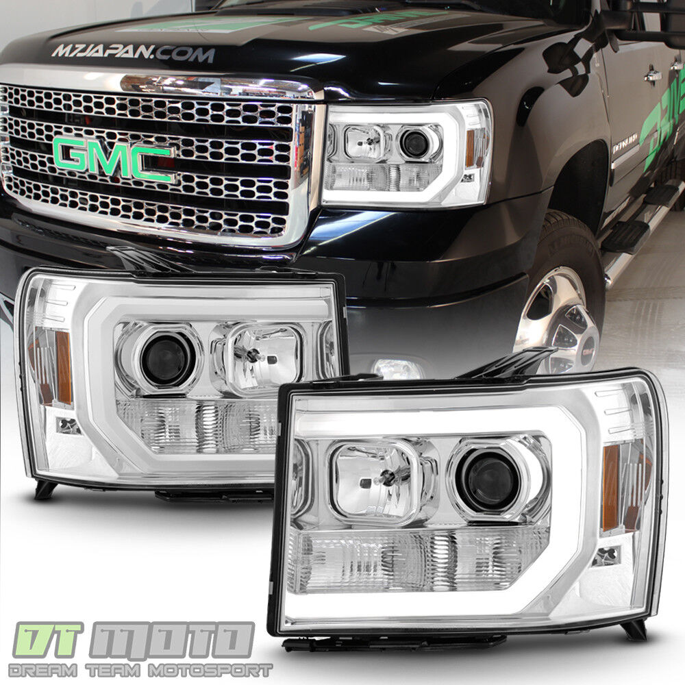 Updated Led Style 2007 2017 Gmc Sierra 1500 2500 3500 Projector Headlights Ebay
