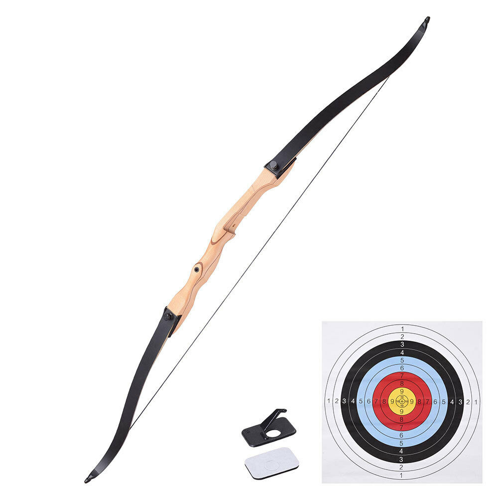 68 recurve long bow draw right hand traditional archery for Compound bow fishing