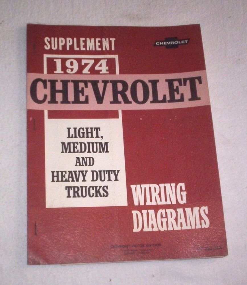 74 Chevrolet Light  Med  Hd Truck Wiring Diagrams Supplement