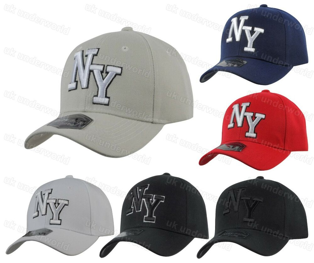 Details about Mens Ladies New York NY Plain Baseball Cap Adults Curved Peak  6 Panel Sun Hat c8863b1b84c
