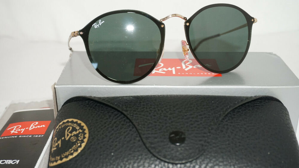 25ab7c7f628 Details about RAY-BAN Sunglasses New BLAZE ROUND Gold Green Classic RB3574N  001 71 59 145