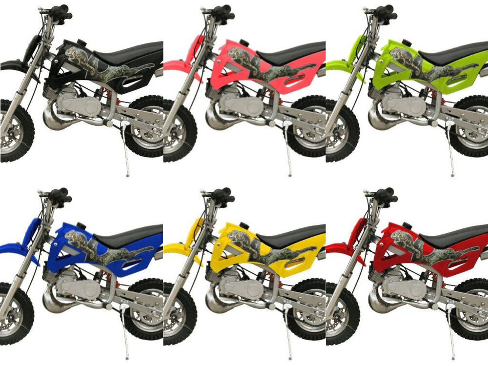 FREE SHIPPING KIDS 49CC 2 STROKE GAS MOTOR DIRT BIKE MINI POCKET BIKE DB49A | eBay