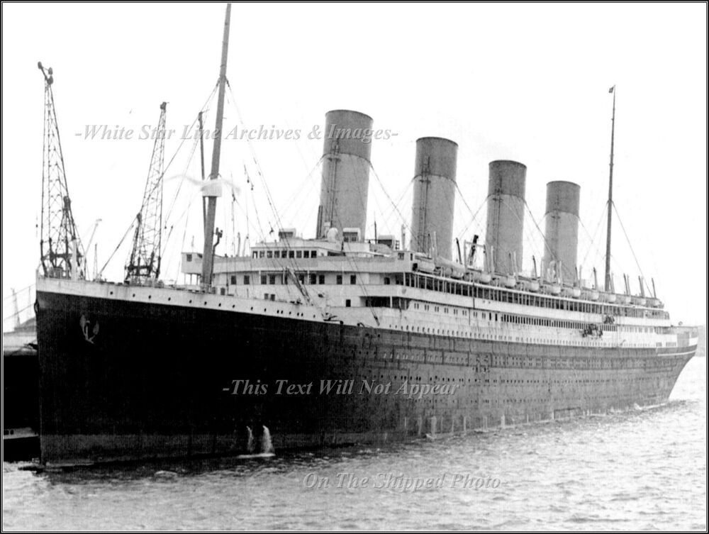 Photo: RMS Olympic Being Serviced At Southampton 1929 | eBay