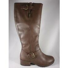 Women's S.O. SKI Brown Knee High Pull On w/Zipper Casual Riding Dress Boots NEW