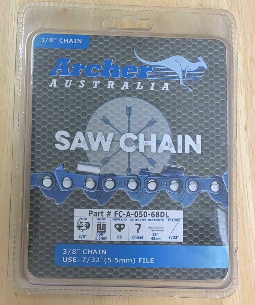 3 8 3 8 Indicator : Pack quot archer chainsaw chain full chisel