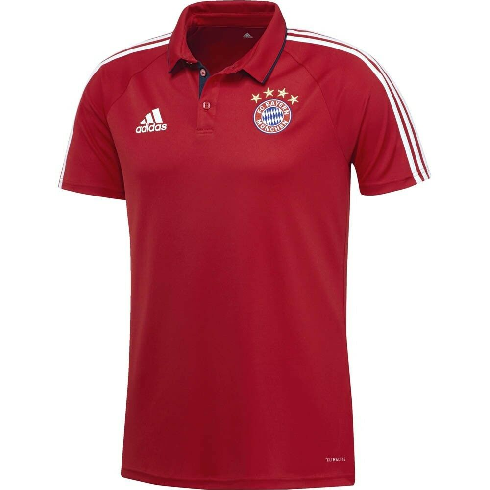 Details about adidas FC Bayern Munich 2017 - 2018 Official Soccer Training  Travel Polo Red d2c769be3