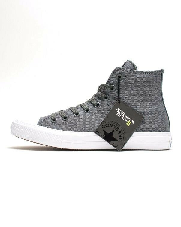 36e7678cf08f Details about Converse CT II HI 150147C Thunder Grey White Chuck Taylor ALL  STAR LUNARLON