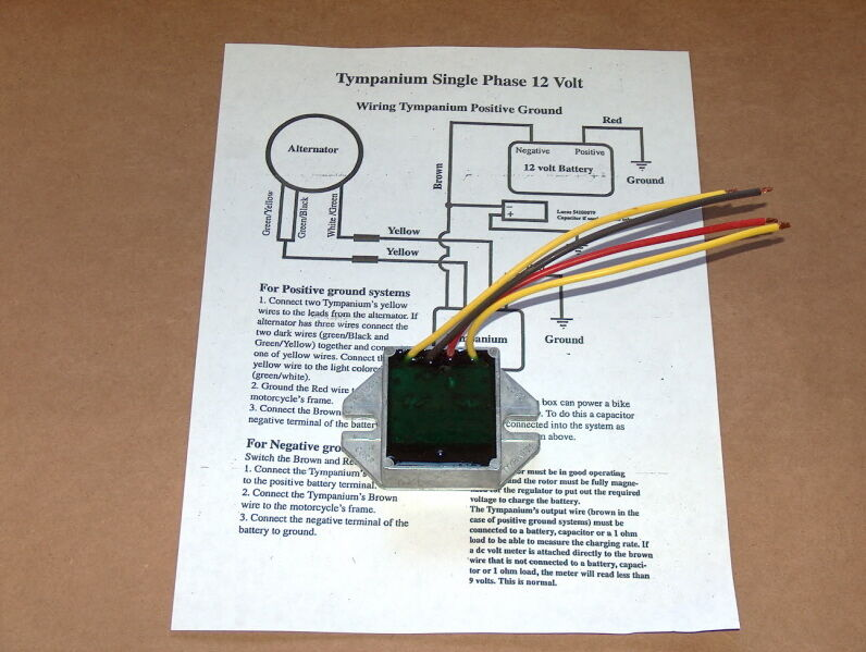 s l1000 new tympanium voltage regulator bsa triumph norton 441 500 650 750 tympanium wiring diagram at n-0.co