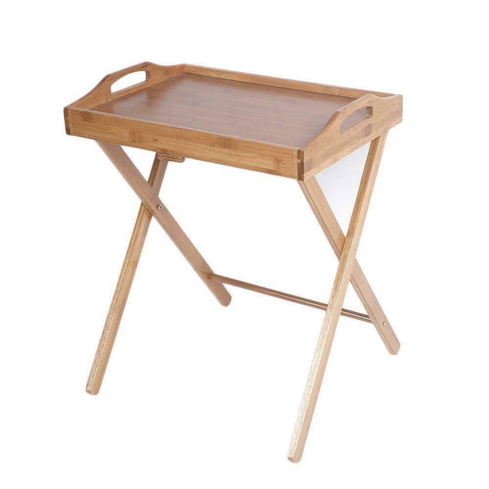 Coffee Table Converts To Tv Tray: Bamboo Folding Wood TV Tray Dinner Table Coffee Stand