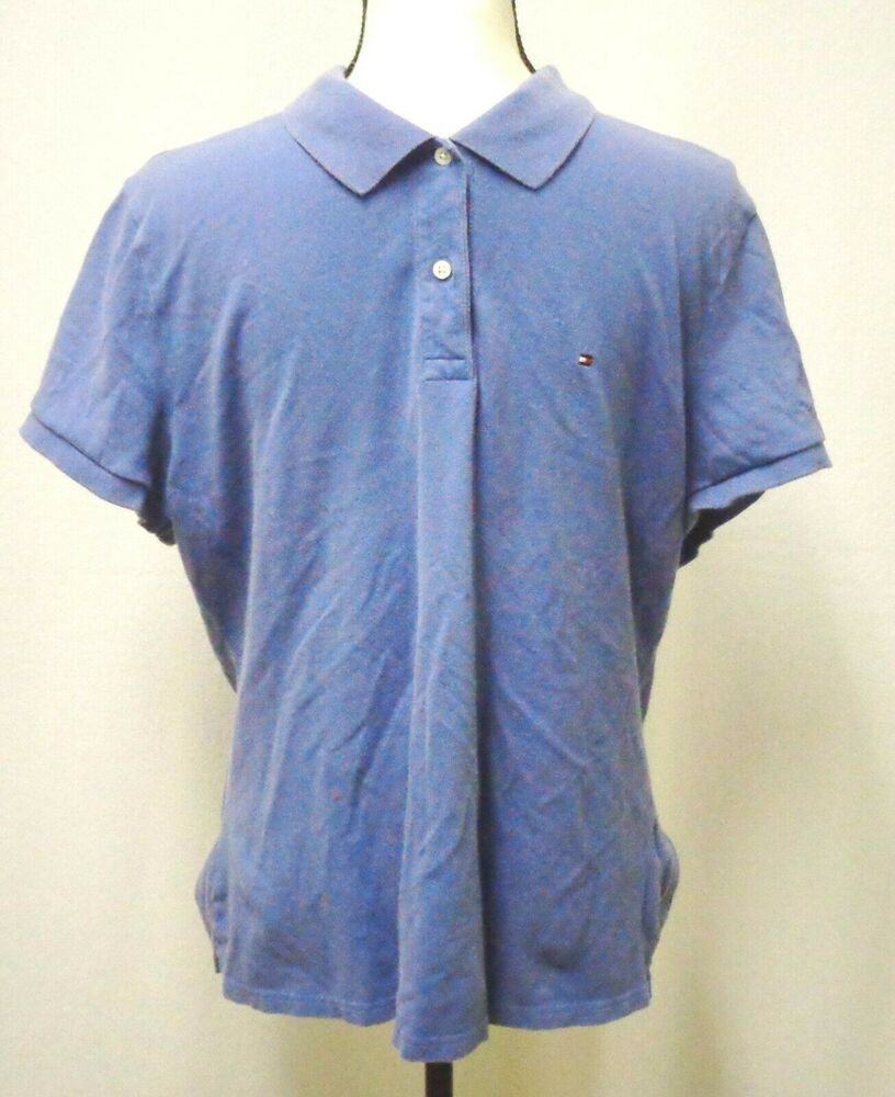 8b7b54b0657 Details about Men s Big   Tall Shirt (Tommy Hilfiger) Size XXL (Blue Polo)  Pre-owned