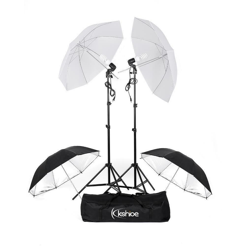 "Optex Photo Studio Lighting Kit Review: Photography Photo Studio 33"" Umbrellas Day Light Reflector"