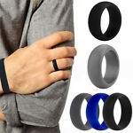 Men Women Fashion 3PC Wedding Ring Rubber Silicone Band Active Sport Gym Gift