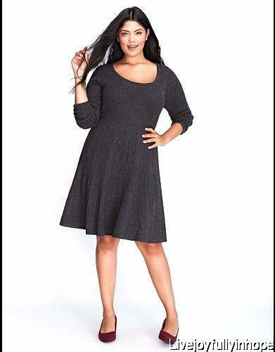 62cd03bf448 Details about LANE BRYANT ~ NEW! 14 16 18 20 26 28 ~ Cable Knit Sweater  Dress Sweaterdress 1X