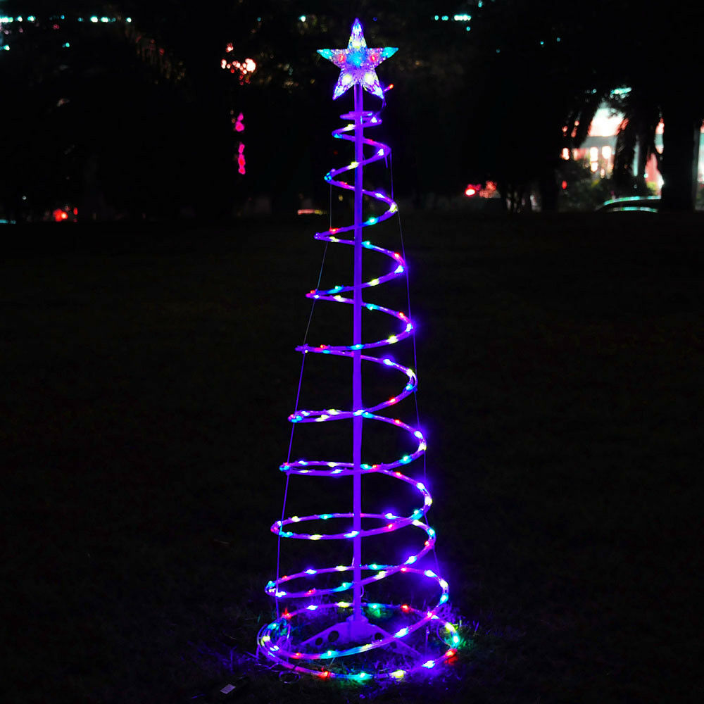 5 39 ft color changing christmas led spiral tree light xmas holiday decor battery 640671026741 ebay. Black Bedroom Furniture Sets. Home Design Ideas