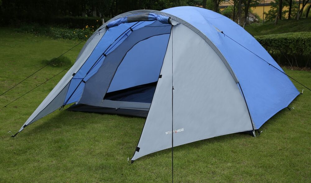 Red North Gear Camping 4 Man Blackout Waterproof Tent