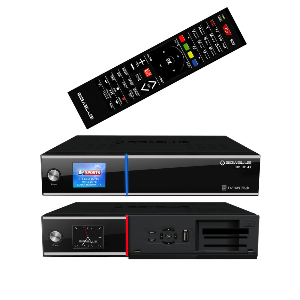 gigablue uhd ue 4k sat linux receiver 2x dvb s2 fbc twin tuner e2 box ultrahd ebay. Black Bedroom Furniture Sets. Home Design Ideas
