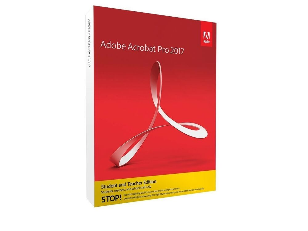 Adobe Acrobat Pro 2017 Mac 2 Computer S Student Teacher