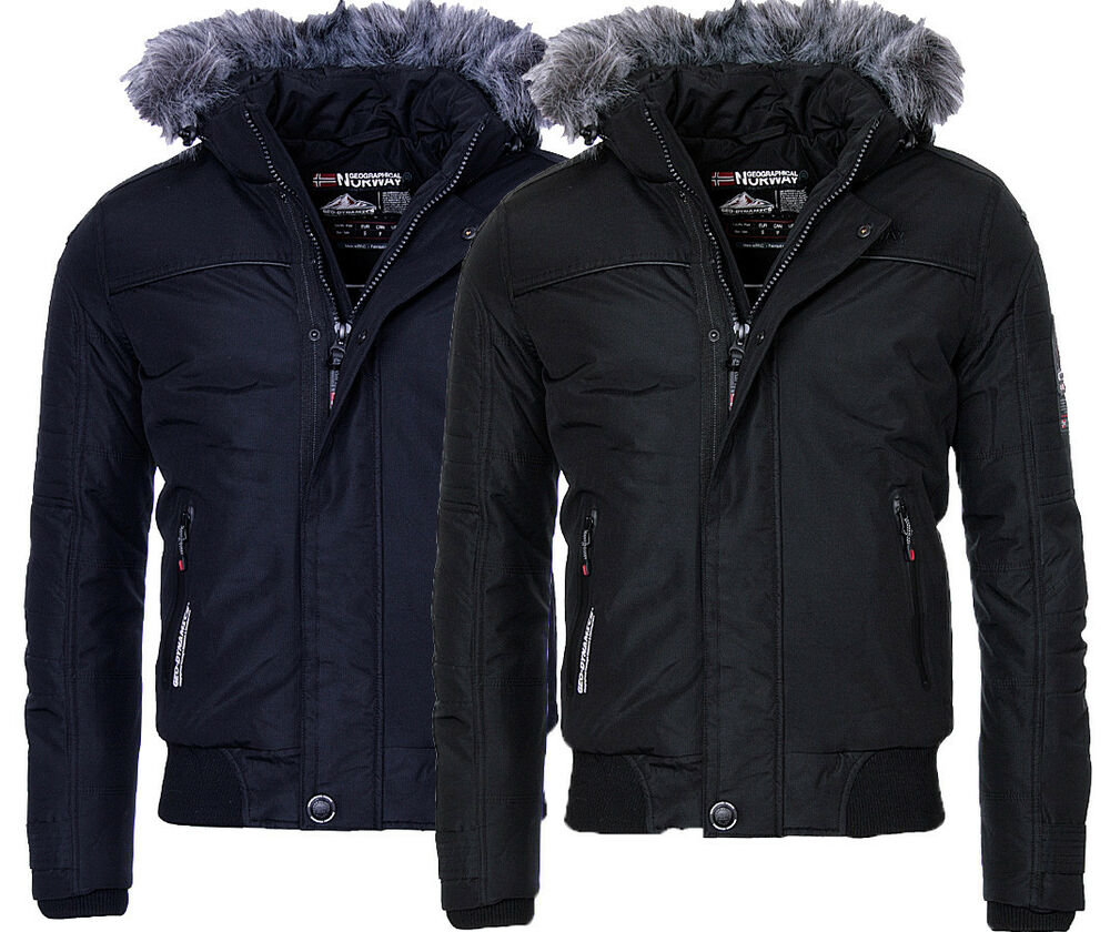 geographical norway herren winter jacke warme bomber jacke outdoor borrowpark ebay. Black Bedroom Furniture Sets. Home Design Ideas