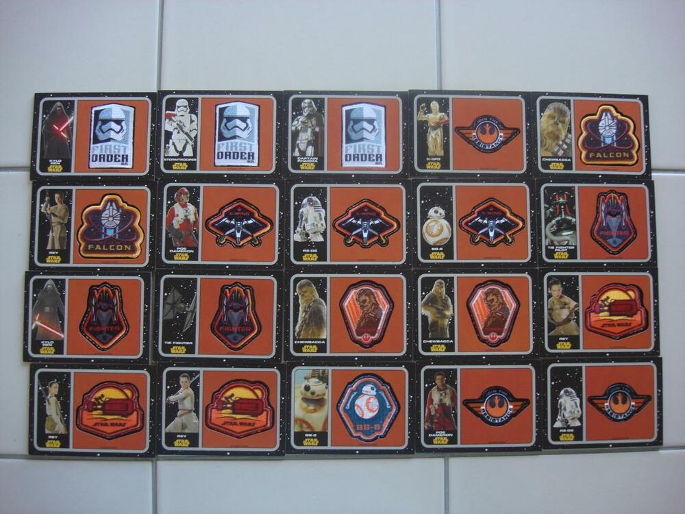 2015 TOPPS JOURNEY STAR WARS THE FORCE AWAKENS CARDS COMPLETE 20 PATCH SET sale!