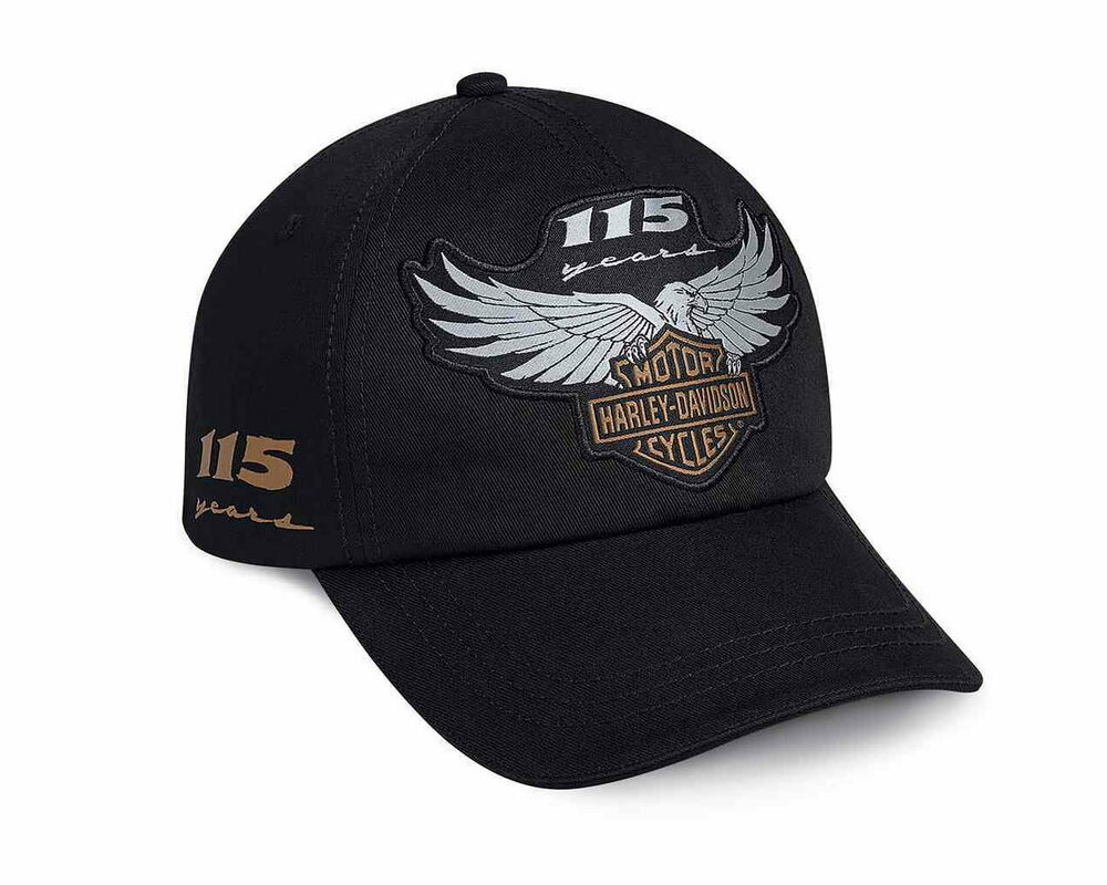 HARLEY DAVIDSON 115TH ANNIVERSARY MENS HAT BALL CAP   NEW   BASEBALL CAP  f50a33b2af2