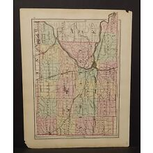 Wisconsin Columbia or Sauk County Single 1876  Special Price L14#96