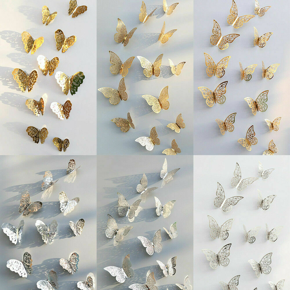 Butterfly Home Decor: 3D Hollow Butterfly Home Decor Art Wall Stickers Decal