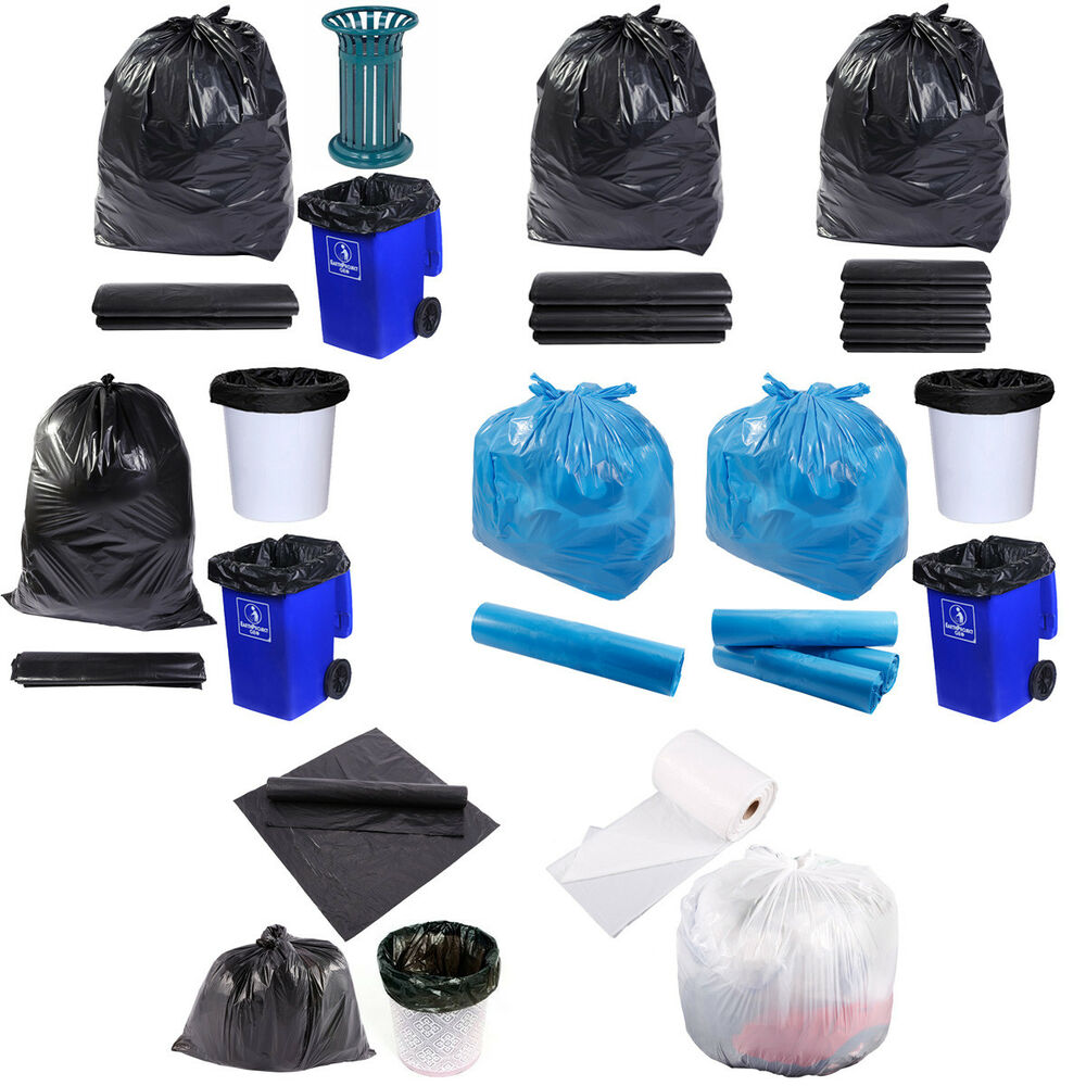 Kitchen Garbage Bags: Commercial Recycled Trash Can Rubbish Garbage Bin Bag