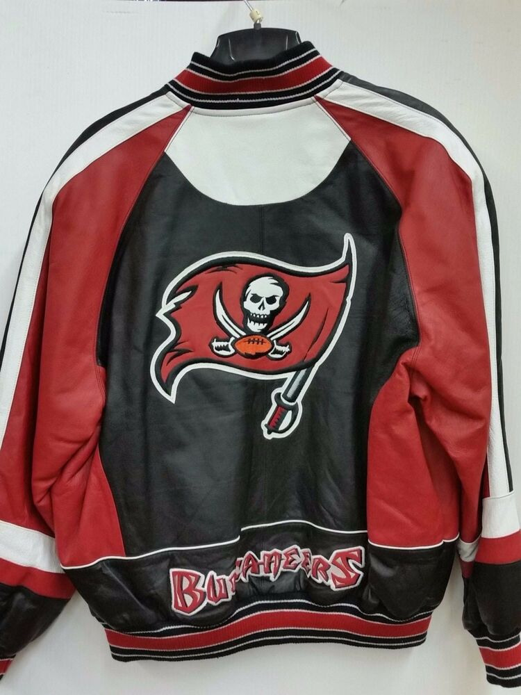 eb2bb6ced185 NFL Tampa Bay Buccaneers Embroidered Genuine Leather Jacket by G-III ...