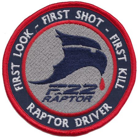 img-US Air Force F-22 Raptor Stealth First Look Embroidered Patch ** LAST FEW **
