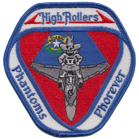 img-US Air Force F-4 Phantom II High Rollers Embroidered Patch ** LAST FEW **