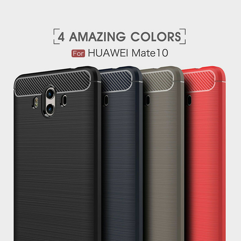 ec33d416412 Ultra Thin Full Cover Carbon Fiber Armor silicone TPU Case For Huawei