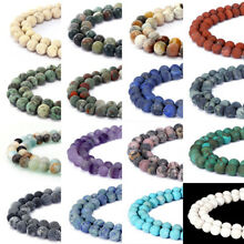 Natural Matte Gemstone Round Spacer Loose Beads 15.5''  4mm 6mm 8mm 10mm 12mm