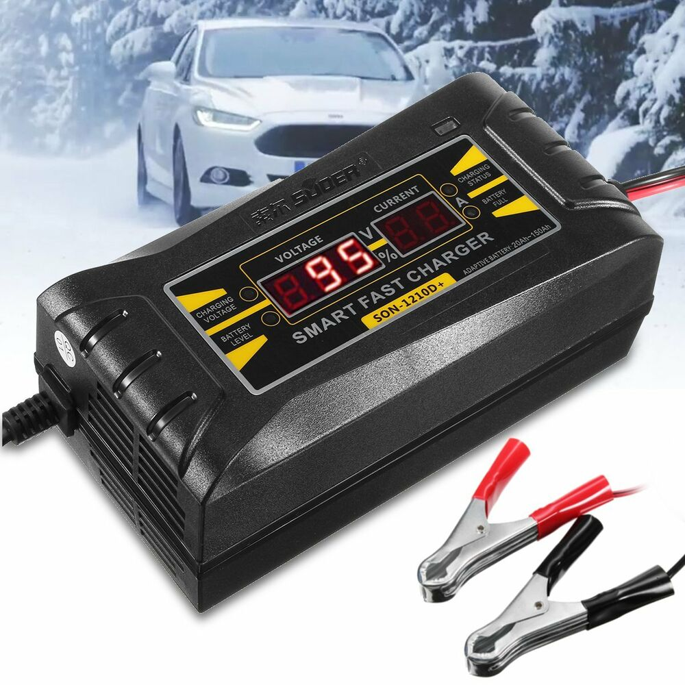 Son 1210d Lcd Smart Fast Lead Acid Battery Charger 12v 10a For Car By L200 Motorcycle Ebay