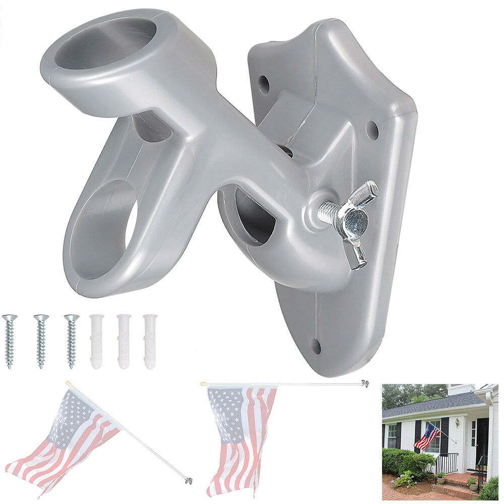 2 Positions 1 Quot Flag Pole Bracket Wall Mount Flagpole