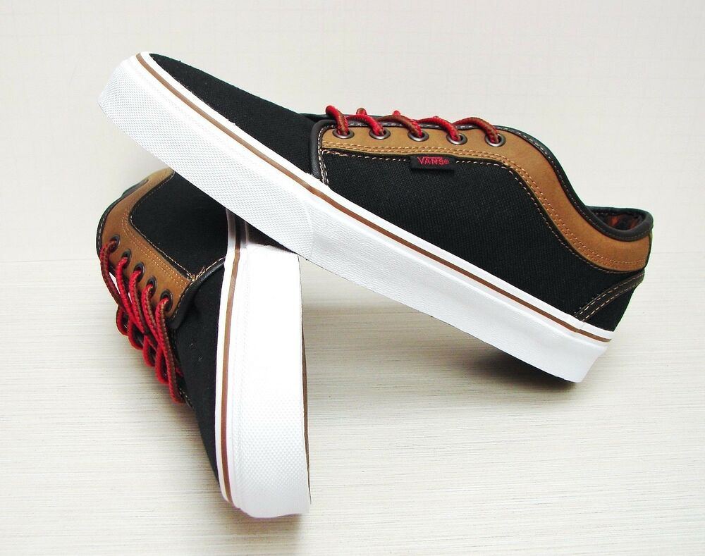 997a230ff11d Details about Vans Chukka Low Leather Black Brown VN-0U0GB4F Men s Size 7.5