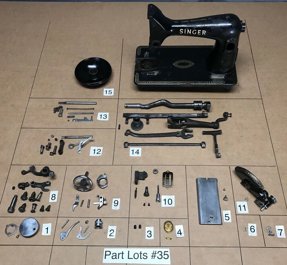 1957 Singer 99k 31 Sewing Machine Parts Lots Replacement ...