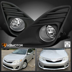 Kyпить For 2012-2014 Toyota Camry Clear Bumper Driving Fog Lights+Wiring+Switch Set L+R на еВаy.соm