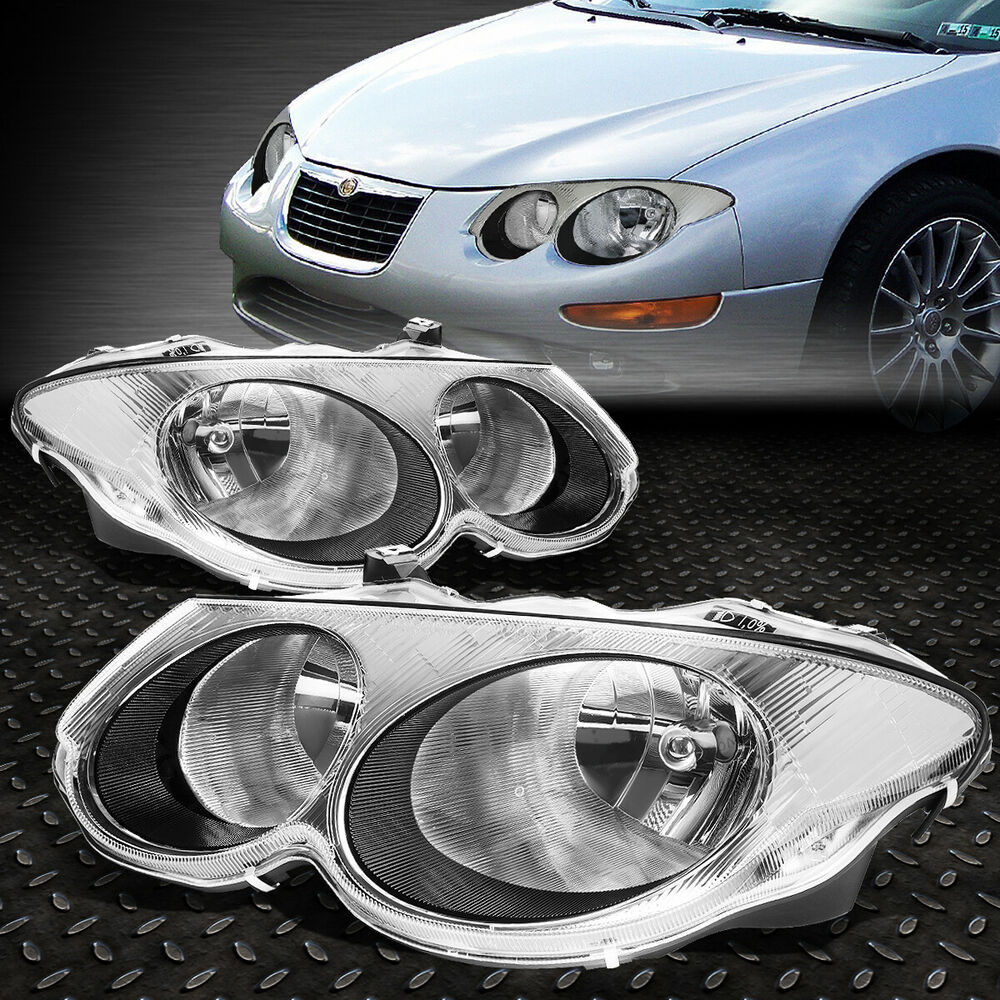 Details About For 1999 2004 Chrysler 300m Pair Black Housing Per Headlights Headlamp Set