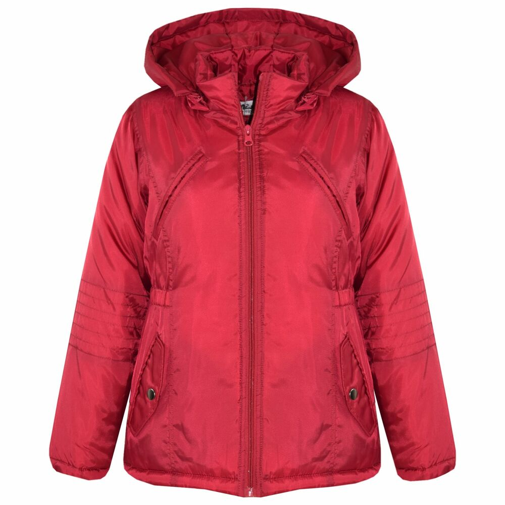 a6d711781 Details about Girls Jackets Kids Designer Foam Padded Hooded School Warm  Thick Coat 3-10 Years